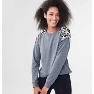 Aeropostale Lace Insert Pullover Sweater